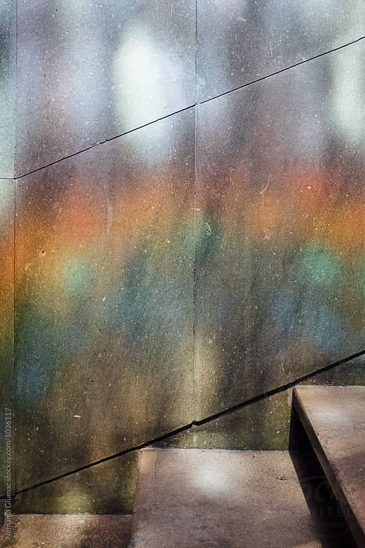 Colourful Rainbow Reflection on a Wall by Nemanja Glumac for Stocksy United