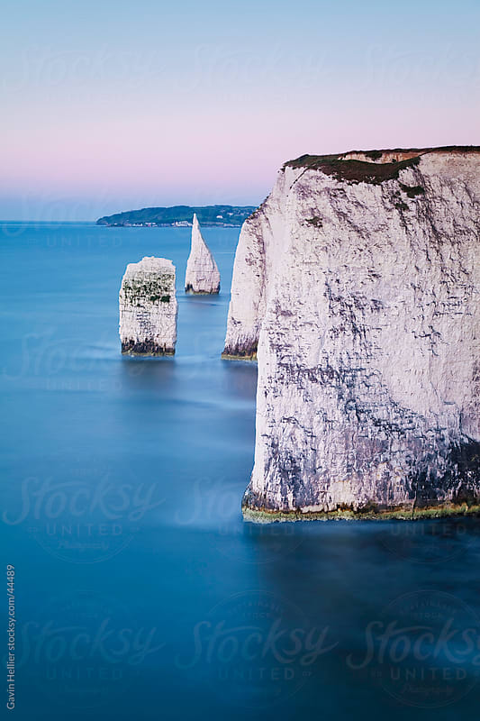 Dawn over Old Harry Rocks on the Jurassic Coast, UNESCO World Heritage Site, Dorset, England, United Kingdom, Europe by Gavin Hellier for Stocksy United