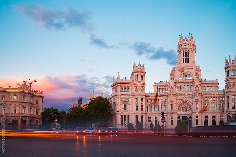 Cibeles Square at Evening Light by VICTOR TORRES for Stocksy United