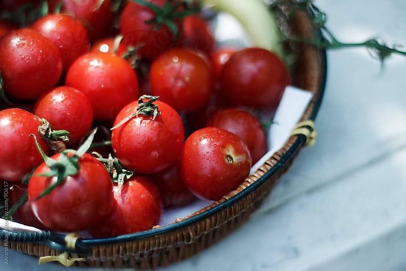 Fresh cherry tomato by Jovana Rikalo for Stocksy United
