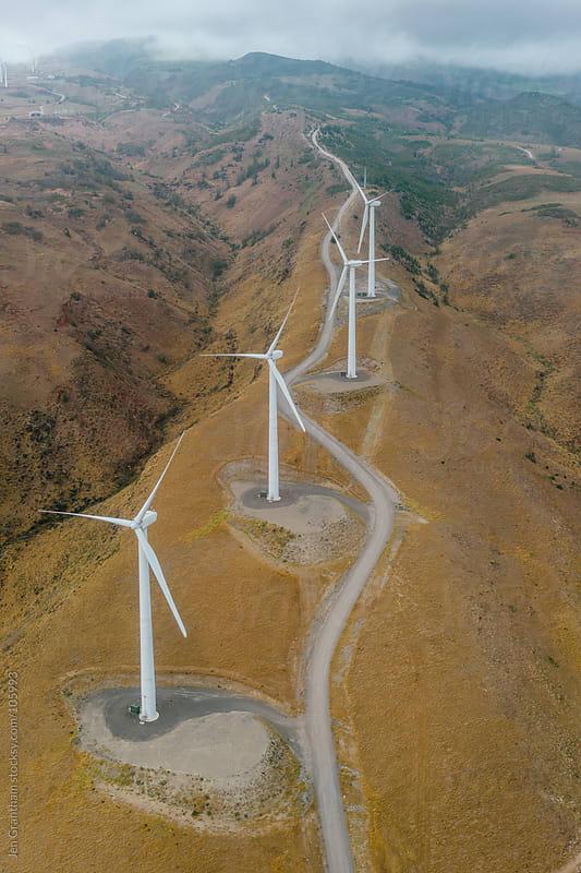 Wind Farm in Maui, Hawaii by Jen Grantham for Stocksy United