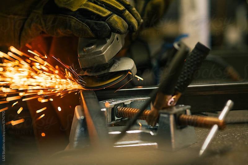 Angle Grinder by L&S Studios for Stocksy United