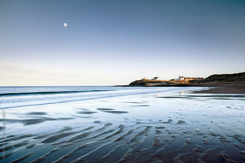 A stretch of coastline at low tide by James Ross for Stocksy United