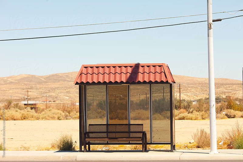 Desert Bus Stop by Thomas Hawk for Stocksy United
