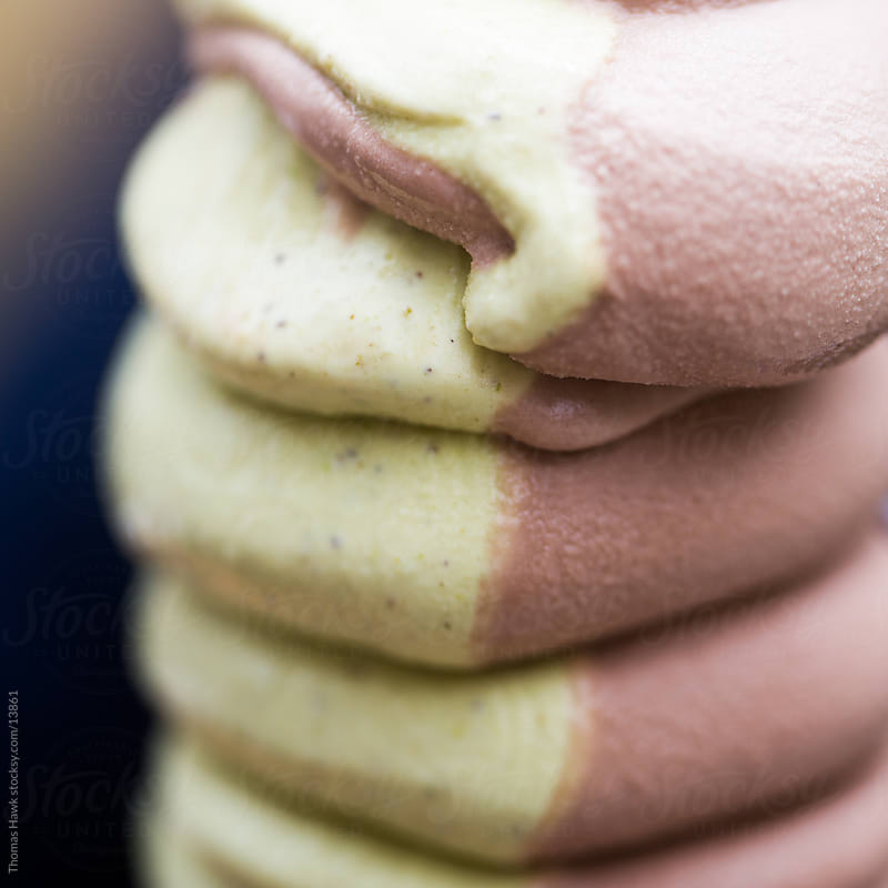 Detail photograph of mixed ice cream by Thomas Hawk for Stocksy United