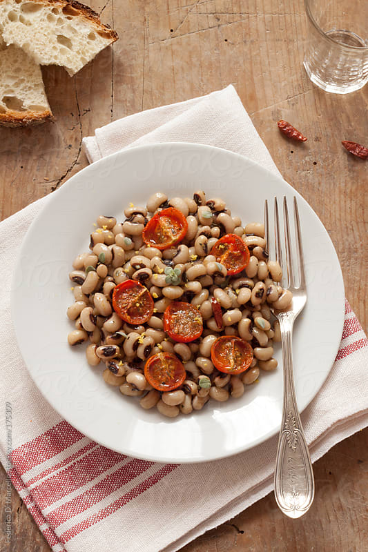 Black-eyed pea warm salad by Federica Di Marcello for Stocksy United