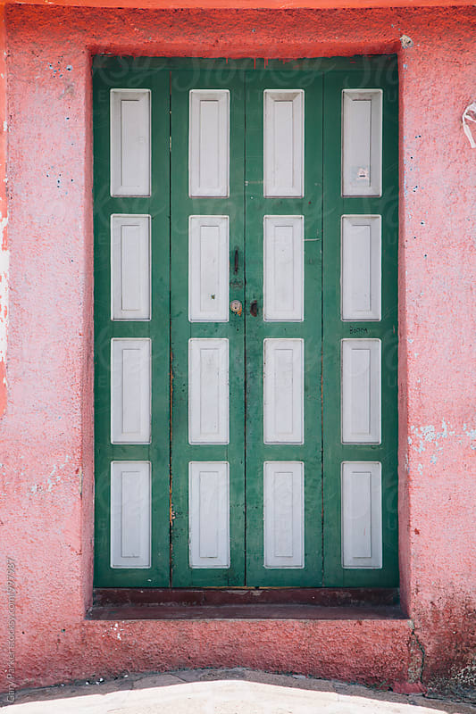 Brightly painted door by Gary Parker for Stocksy United