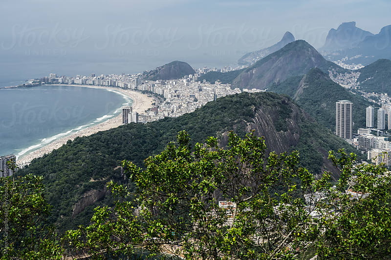 Amazing view from sugarloaf, Rio de Janeiro, Brazil by Mauro Grigollo for Stocksy United