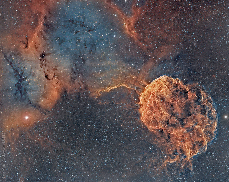 IC443 The Jellyfish nebula by Sara Wager for Stocksy United