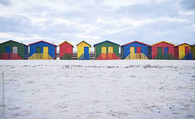 Colorful Houses on the Beach