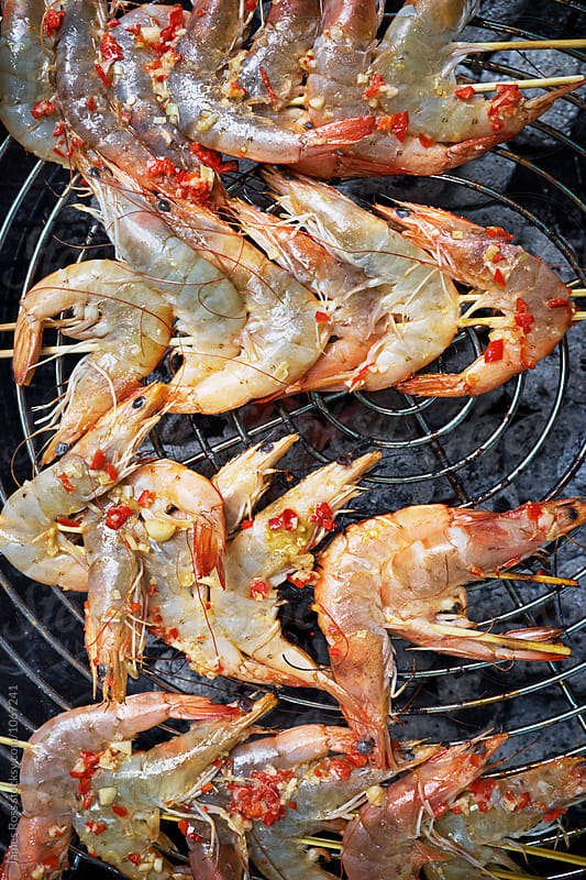Cooking Prawns by James Ross for Stocksy United