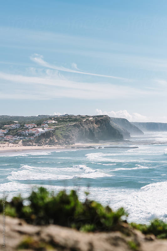 coast line in portugal by Leander Nardin for Stocksy United