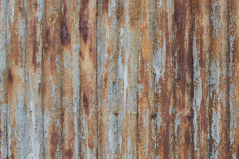 Rusty Metal as a Background by Mosuno for Stocksy United