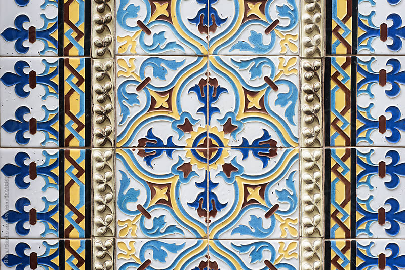 Tiles Backgound, Barcelona by Bisual Studio for Stocksy United