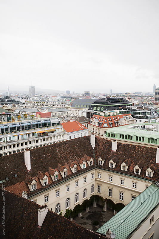 Town View & Rooftops; Vienna, Austria by Jovana Rikalo for Stocksy United