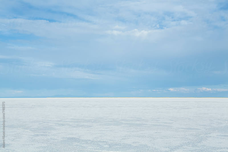Vast salt flats of Utah by Adam Nixon for Stocksy United