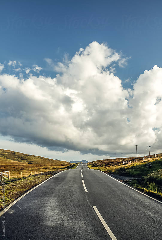 road in the middle of nowhere on the isle of skye by Leander Nardin for Stocksy United