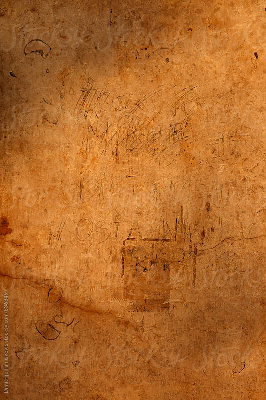 Closeup image of dirty brown wall. Abstract background by Dimitrije Tanaskovic for Stocksy United