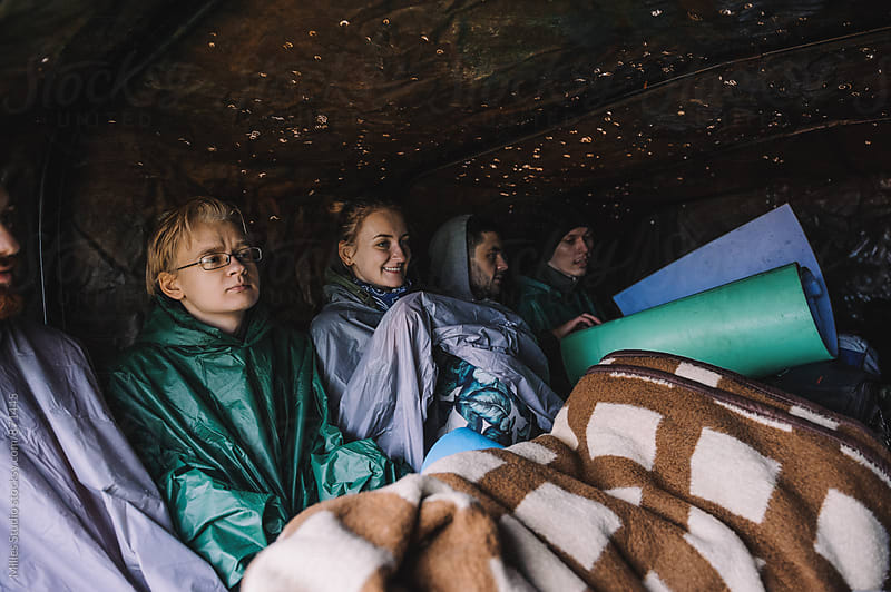 Group of hikers in truck by Milles Studio for Stocksy United
