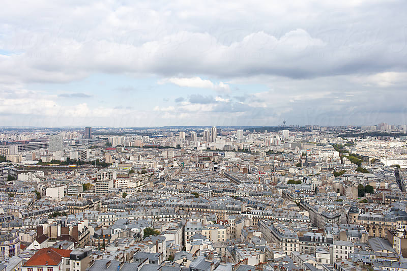 View over Paris by Zocky for Stocksy United