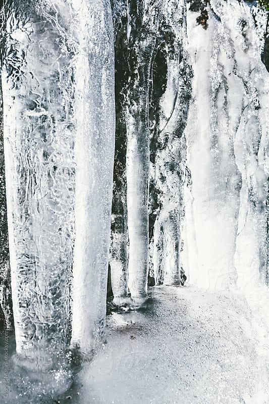 Frozen Icicles Closeup, Winter Season by Giorgio Magini for Stocksy United