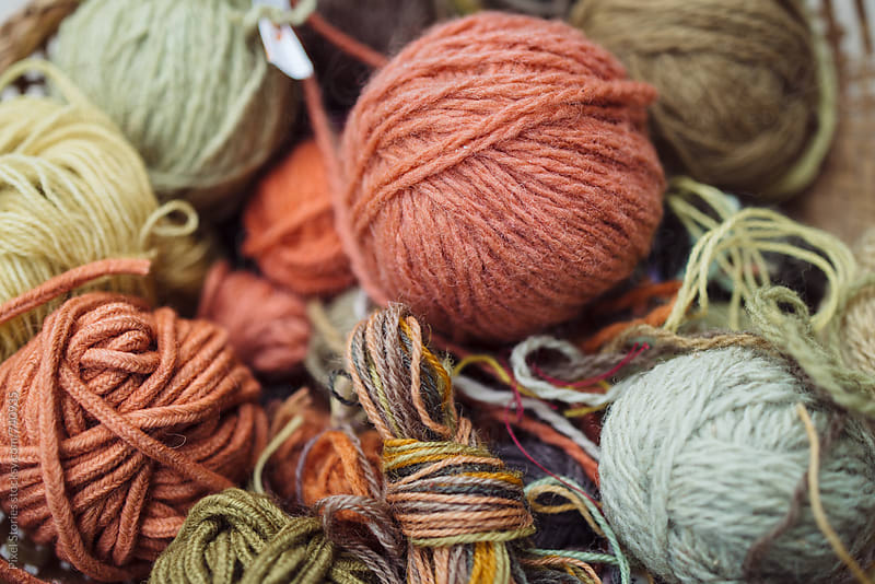 All-natural earth tone yarns by Pixel Stories for Stocksy United