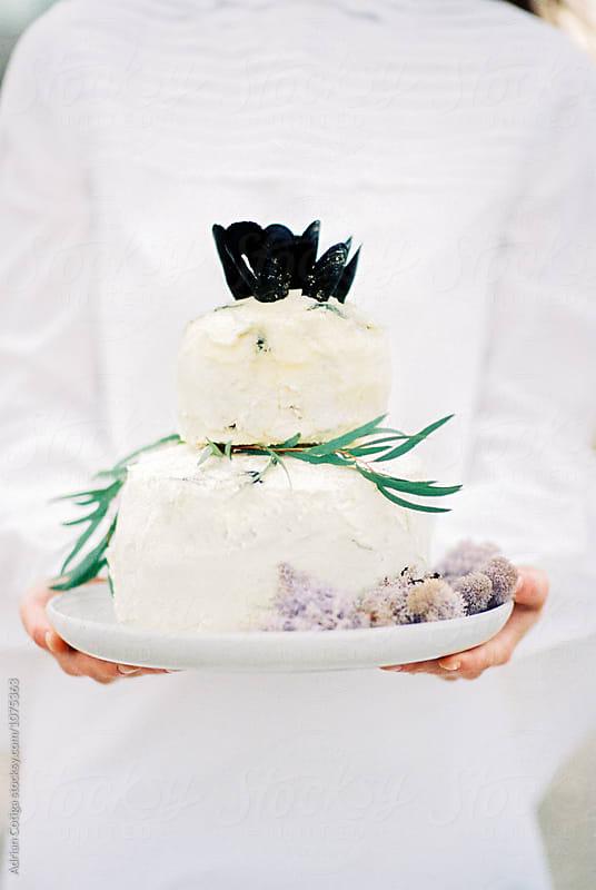 Beach themed wedding cake by Adrian Cotiga for Stocksy United