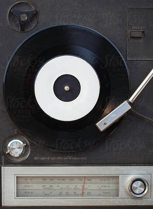 Vintage vinyl player and radio tuner by Jelena Jojic Tomic for Stocksy United