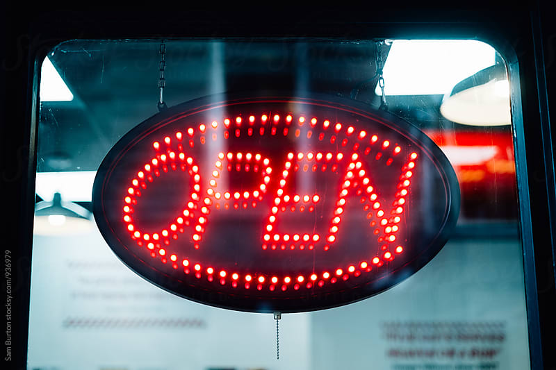 Open sign by Sam Burton for Stocksy United