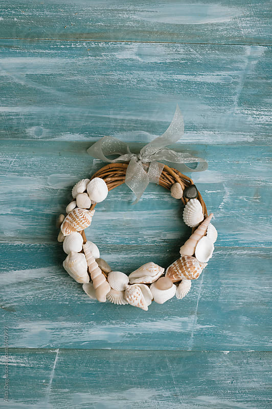 Seashell wreath by Alita Ong for Stocksy United