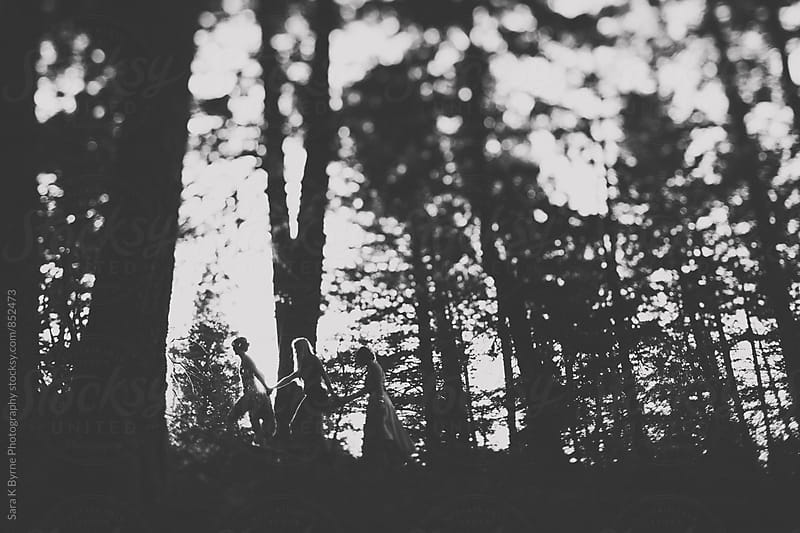 In the forest by Sara K Byrne Photography for Stocksy United