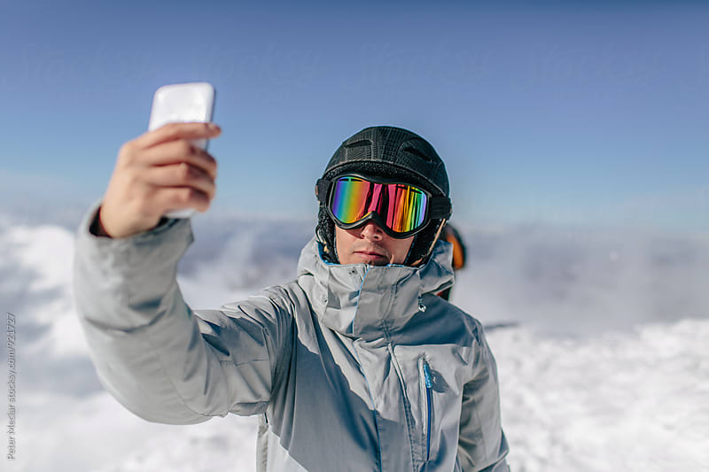 snowboarder selfie by Peter Meciar for Stocksy United