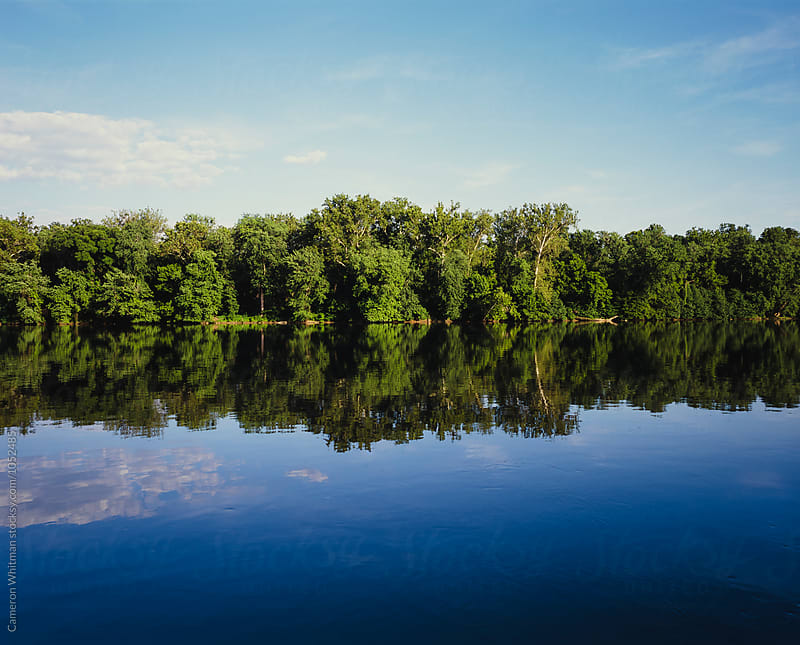 Reflection on the Potomac River by Cameron Whitman for Stocksy United
