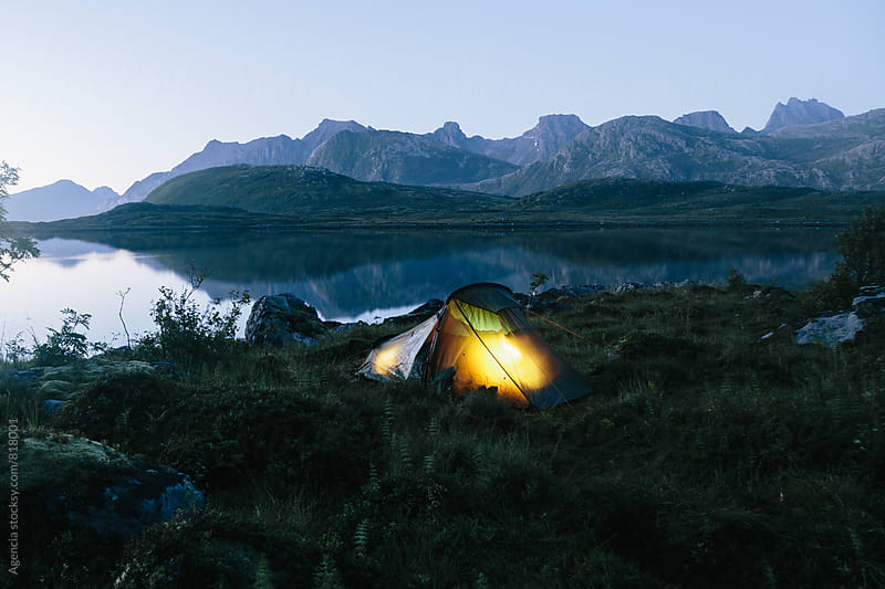 Wild Camping Night by Agencia for Stocksy United