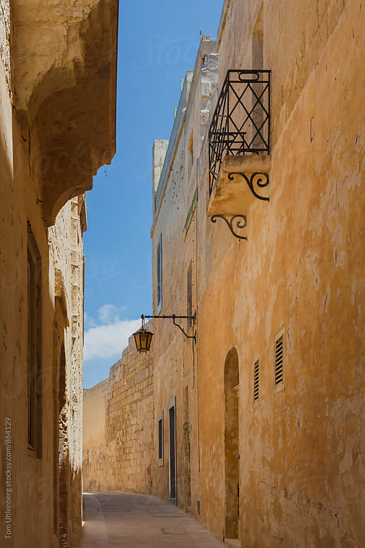 Typical Street in Mdina - former capital city of Malta by Tom Uhlenberg for Stocksy United