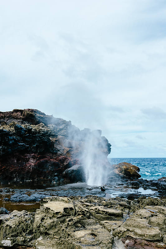 Nakalele Blowhole by Jen Grantham for Stocksy United