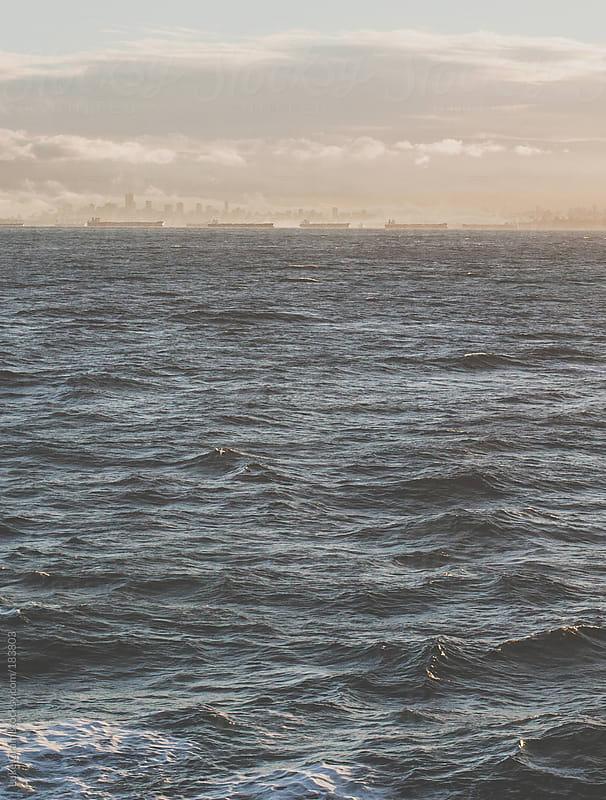 Ferry Sunset by Luke Gram for Stocksy United