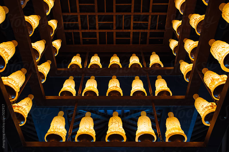 The Buddha lamps by zheng long for Stocksy United