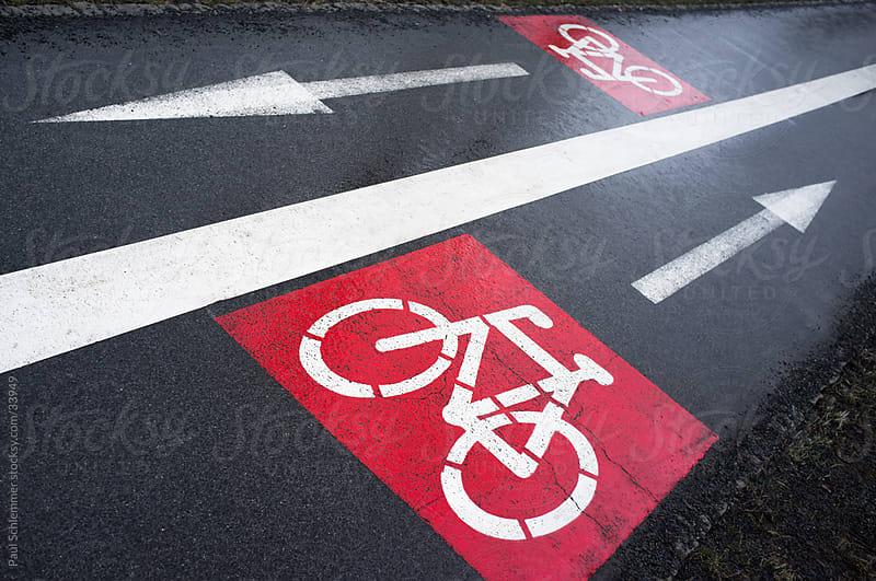 Bike lane concept by Paul Schlemmer for Stocksy United