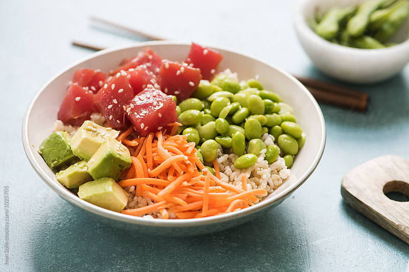 Poke bowl by Ivan Solis for Stocksy United