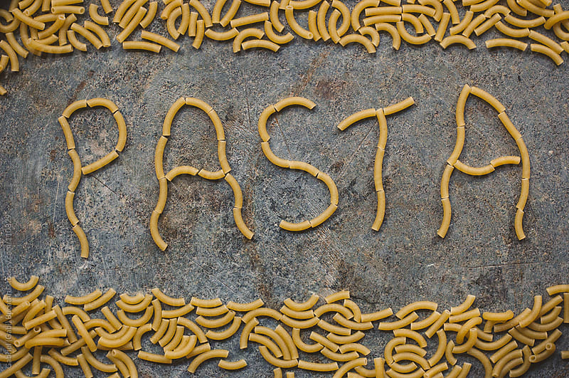 Pasta Spelling by Gabriel (Gabi) Bucataru for Stocksy United