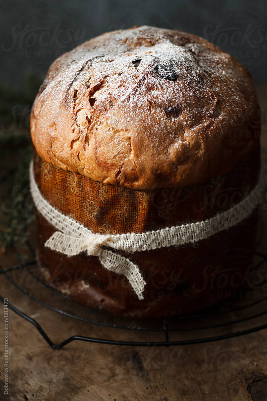 Panettone (Italian Christmas cake) by Dobránska Renáta for Stocksy United