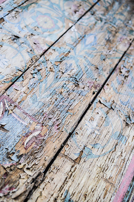 Old painted wood by Bisual Studio for Stocksy United