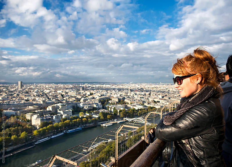 Looking at Paris from the Eiffel tower. by IDS Photography for Stocksy United