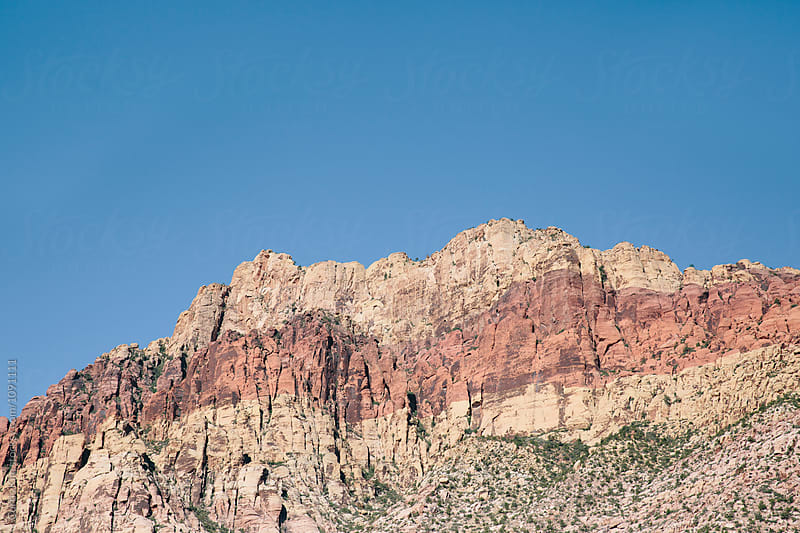 Red Rock Peaks in the desert by Curtis Kim for Stocksy United