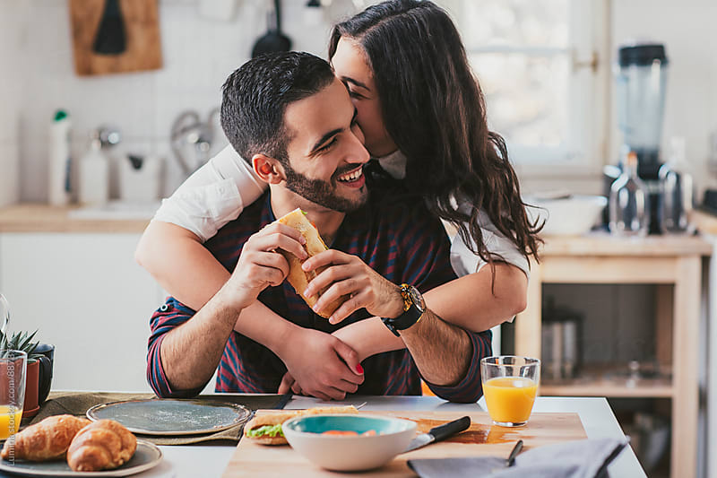 Couple in Love Having Breakfast by Lumina for Stocksy United