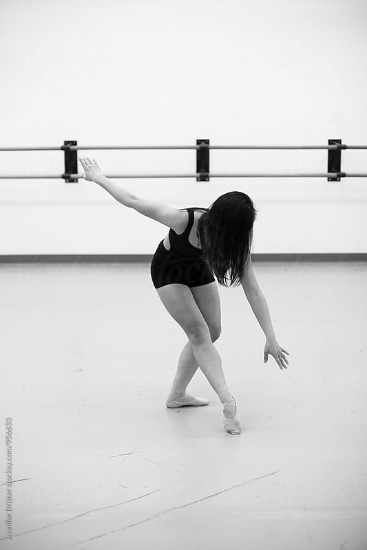 Female dancer dancing  by Jennifer Brister for Stocksy United