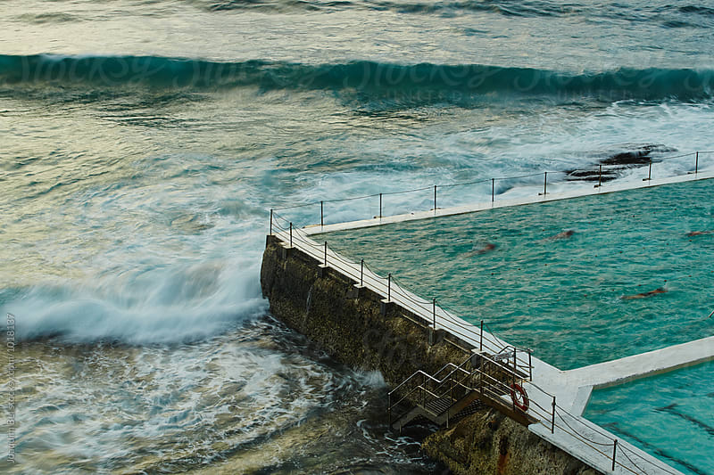 Swimmers at Bondi Icebergs' Baths by Joaquim Bel for Stocksy United