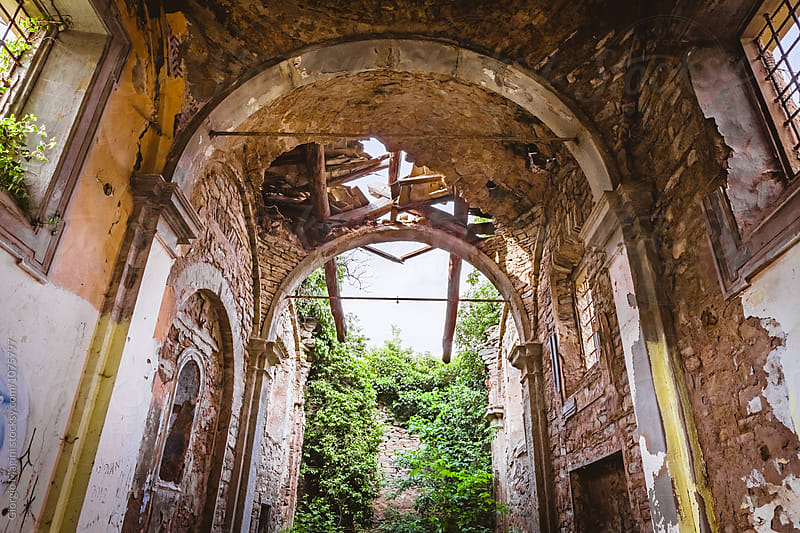 Abandoned Church in Italian Rural Ghost Town by Giorgio Magini for Stocksy United