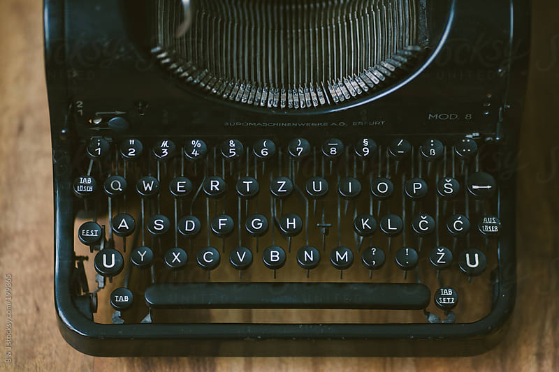 Old cyrilic typewriter by B & J for Stocksy United